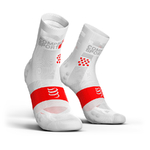 Compressport ProRacing V3.0 Ultralight Run Hi Compressiesokken Smart Wit
