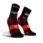 Compressport ProRacing V3.0 Ultralight Run Hi Compressiesokken Zwart/Rood