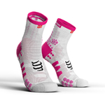 Compressport ProRacing V3.0 Run Hi Compressiesokken Wit/Roze