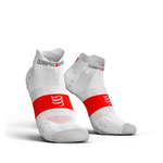 Compressport ProRacing V3.0 Ultralight Run Lo Compressiesokken Smart Wit