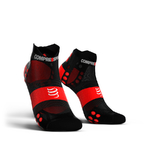 Compressport ProRacing V3.0 Ultralight Run Lo Compressiesokken Zwart/Rood