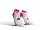 Compressport ProRacing V3.0 Run Lo Compressiesokken Wit/Roze