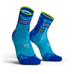 Compressport ProRacing V3.0 Ultralight Run Hi Compressiesokken Fluo Blauw