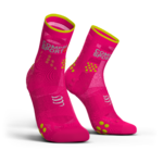 Compressport ProRacing V3.0 Ultralight Run Hi Compressiesokken Fluo Roze