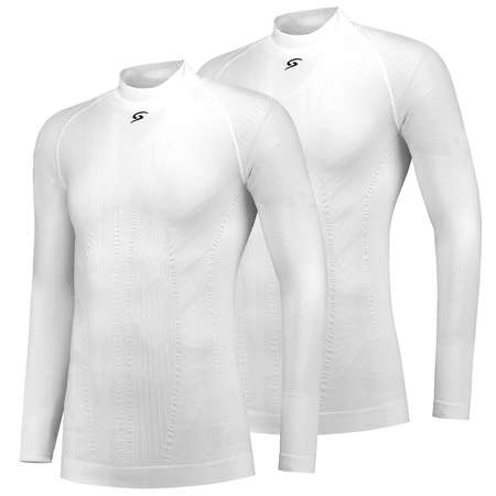 FUTURUM Base Layer Long Sleeve Joris White 2 Pack