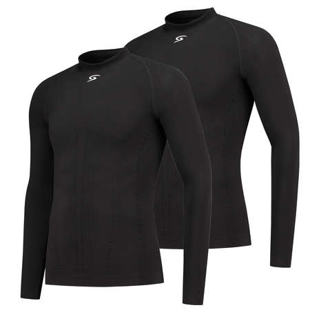 FUTURUM Base Layer Long Sleeve Joris Black 2 Pack