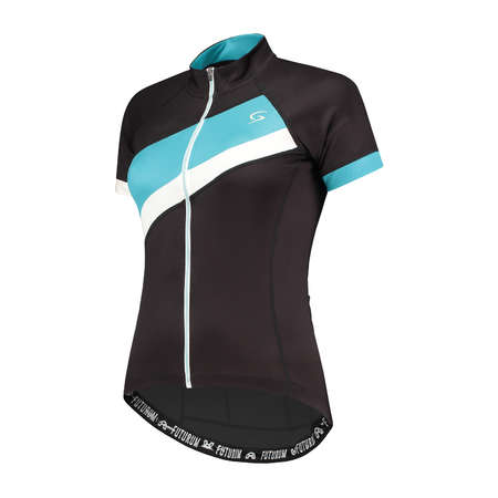 FUTURUM Jersey Short Sleeve Mara Black/Turquoise