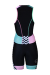 Zone3 Activate Plus Trisuit Zwart/Groen/Roze/Wit Dames