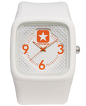 Clocked Silicon White/Orange