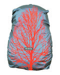 Wowow Bag Cover Quebec Reflecterend Zilver/Oranje